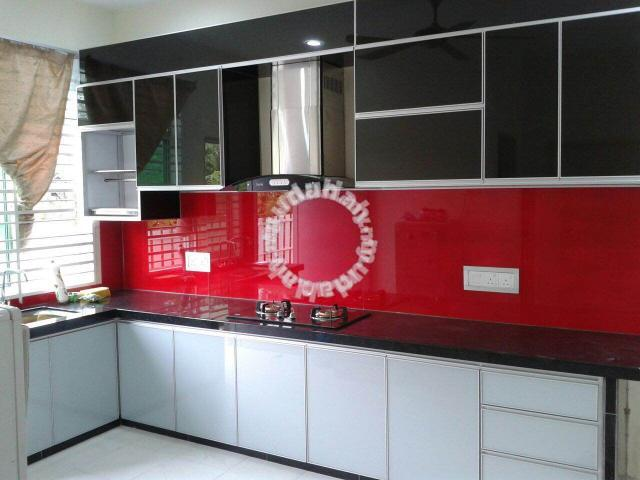 Aluminium 3g Kitchen Cabinet Splash Back Gl Furniture Decoration For In Kangar Perlis