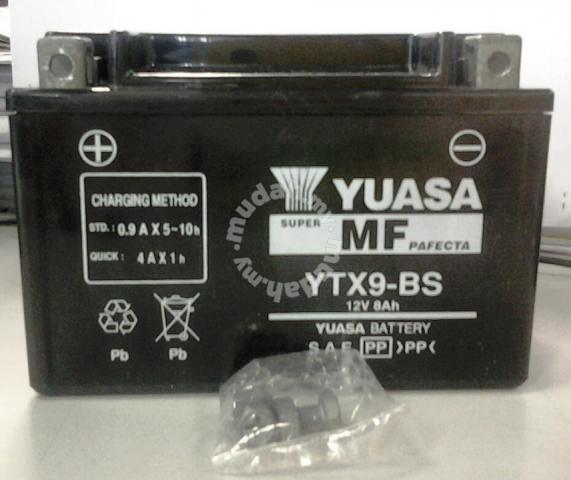 Yuasa Battery Ytx9 Bs Kawasaki Ninja 250 Z250 Z800 Motorcycle