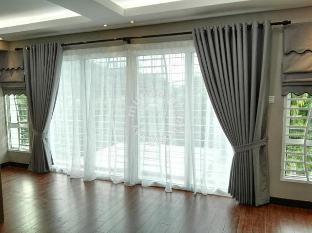 Modern Fabrik Sun Block Curtains Cny Furniture Decoration For In Old Klang Road Kuala Lumpur