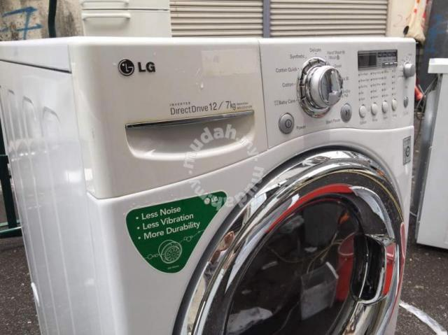 lg inverter 12kg washer dryer combo 2 in 1 machine home appliances u0026 kitchen for sale in others kuala lumpur