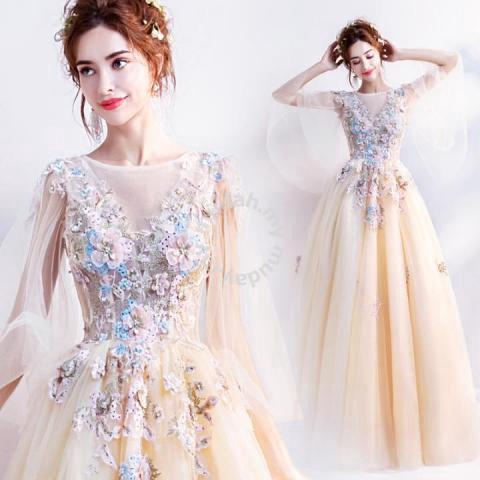 2396ddb05e Yellow prom bridesmaid wedding gown dress RBP0787 - Wedding for sale in Johor  Bahru