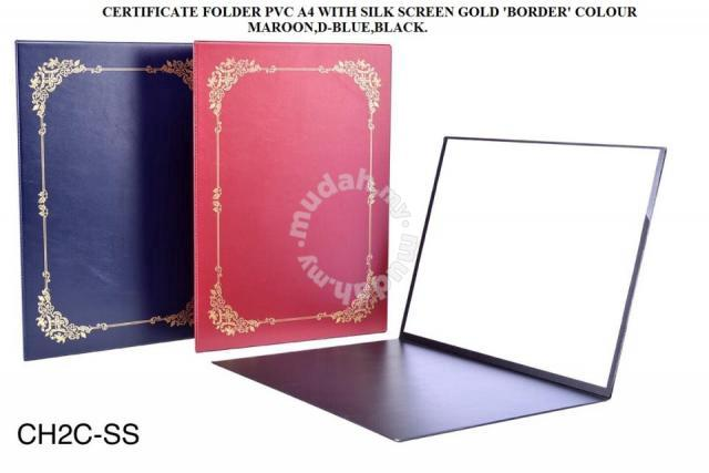 Certificate folder pvc a4 with silk screen gold - Others for sale in ...