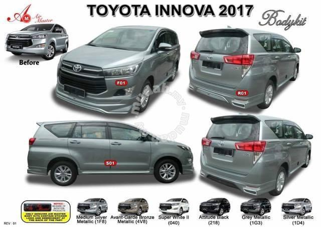 Toyota Innova 2017 Bodykit Body Kit Skirt Chrome Car
