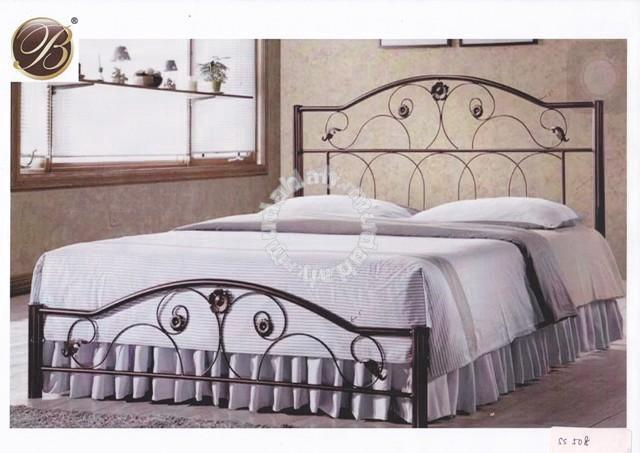 Metal Bed Katil Besi 5kaki Queen Size Furniture Decoration For In Georgetown Penang