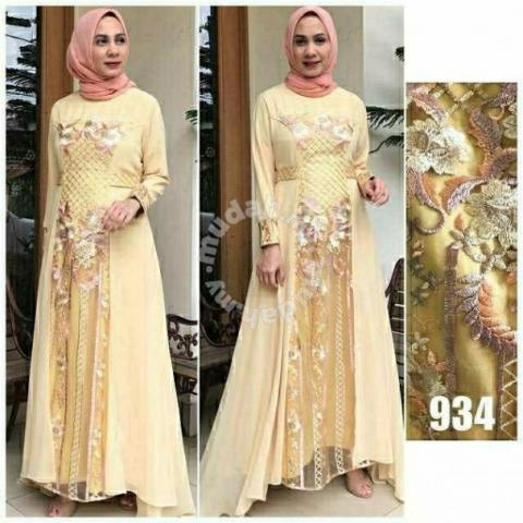 934 Formal Dinner Dress Long Sleeve Muslimah Clothes For Sale In