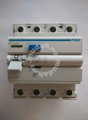 Hager 40a 4 pole 300ma elcb / rccb   professional/business ...