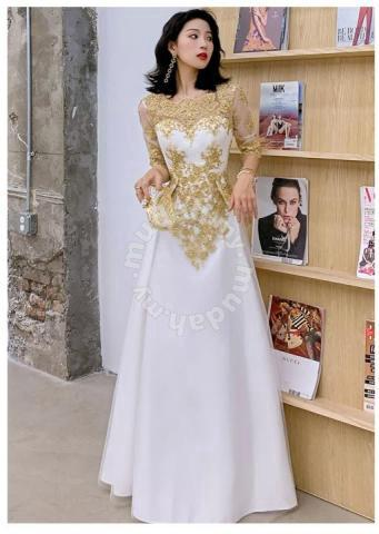 White Gold Wedding Prom Evening Dress Gown Rbp1104 Clothes For Sale In Johor Bahru Johor Mudah My