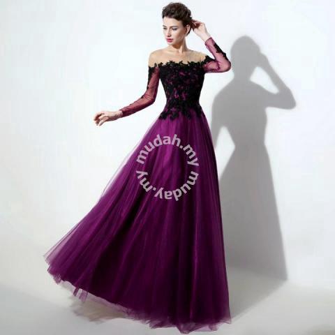 Purple Wedding Dresses.Purple Blue Red Long Sleeve Prom Wedding Dress Clothes For Sale In Johor Bahru Johor