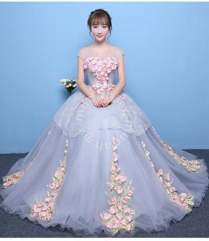 ec0a416c1d Grey pink wedding bridal prom dress gown RB0413 - Wedding for sale in Johor  Bahru