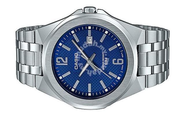 13a062749 Casio Men Stainless Steel Date Watch MTP-E158D-2AV - Watches ...