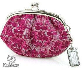 a690c93a782d Coach Pink Signature Coin Purse Kisslock -F60505 - Bags   Wallets ...