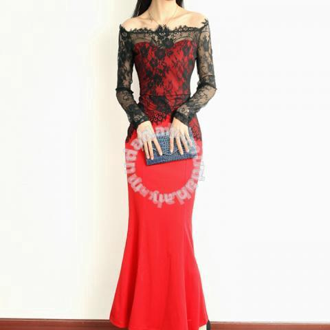 Red black lace long sleeve mermaid dinner dress - Clothes for sale in ... e8a941891