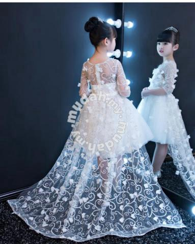 White Wedding Kids Dress Fashion Dresses