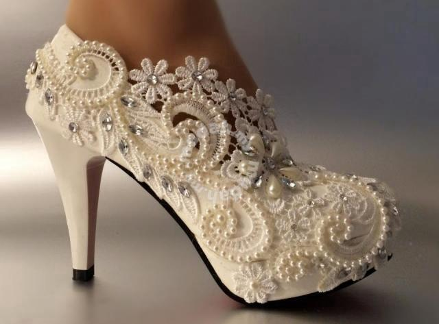 a6f68242bd9 Bridal wedding lace party prom high heels - Shoes for sale in Johor ...