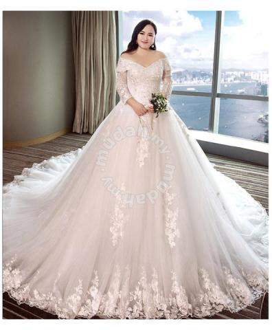 Wedding Dress Plus Size.White Long Sleeve Wedding Dress Gown Plus Size Rb0 Wedding For Sale In Johor Bahru Johor