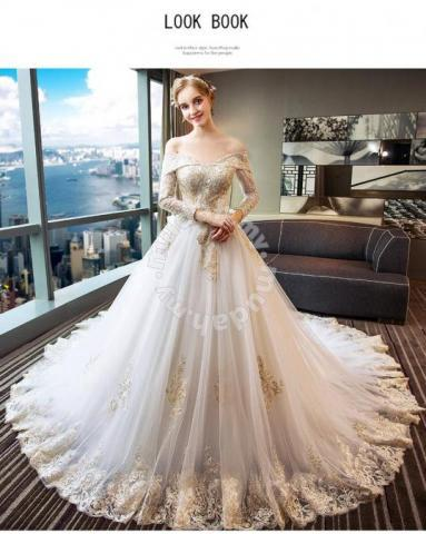 Gold Wedding Dresses.Gold Long Sleeve Wedding Dress Plus Size Rb0559 Wedding For Sale In Johor Bahru Johor