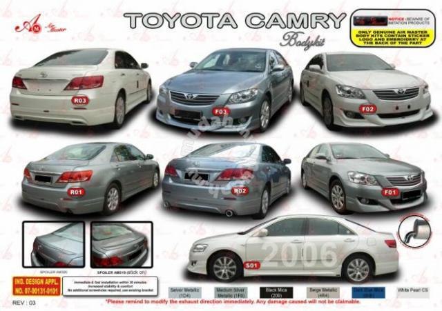 Toyota Camry Accessories >> Toyota Camry 2006 2009 Air Master Bodykit Body Kit Car Accessories
