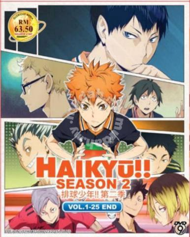 DVD ANIME HAIKYUU Season 2 Vol1 25End Volleyball