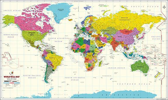 Poster world map atlas 9 - Hobby & Collectibles for sale in Cheras on