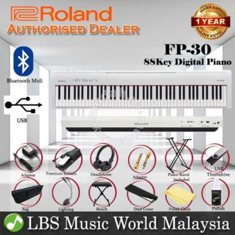 Roland Fp 30 Digital Piano White Portable Package Music Instruments For Sale In Bukit Jambul Penang Mudah My