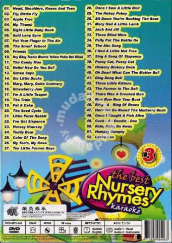 Dvd Karaoke Best Nursery Rhymes