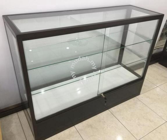 D1268 Aluminium Glass Display Cabinet, Glass Display Cabinet Malaysia