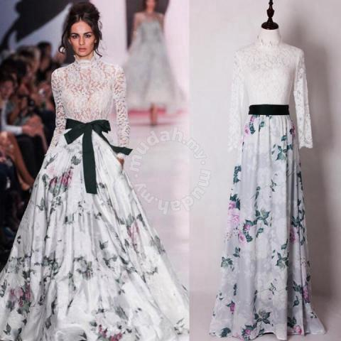 2a8522b7f53b White lace flower long sleeve maxi dress gown - Clothes for sale in ...