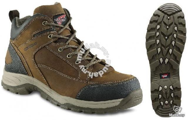 Safety Shoes Red Wing Men Mid Cut Brown