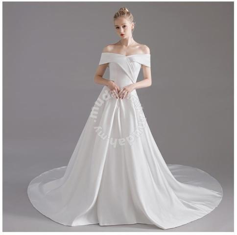 f1bd36a5f3 White wedding bridal prom dress gown RB0848 - Wedding for sale in Johor  Bahru