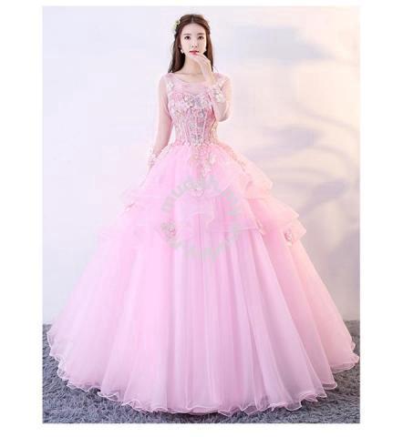 d99fec421b Pink Wedding Bridal Ball Prom Dress Gown RBMWD0116 - Wedding for sale in Johor  Bahru