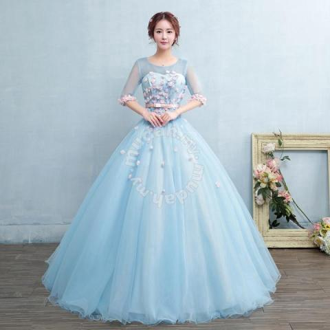 888d790642 Blue Wedding Bridal Ball Prom Dress Gown RB0502 - Wedding for sale in Johor  Bahru