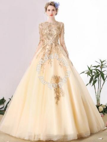 0f4377fc88 Gold Fishtail Wedding Bridal Ball Prom Dress Gown - Wedding for sale in Johor  Bahru