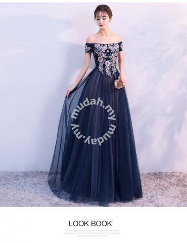 466d15d7522c Blue off shoulder Wedding Prom Dress Gown RBP0638 - Clothes for ...
