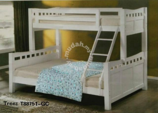 Furniture Solid Wood Double Decker Bunk Bed T88751
