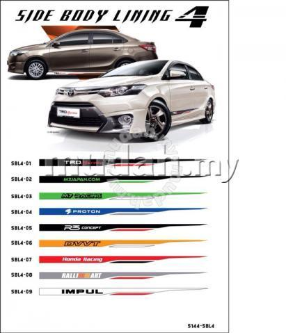 New design body lining sticker new vios trd