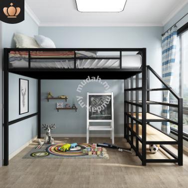 Double Decker Loft Bed Frame Ikea Child Mattress 1 Furniture Decoration For Sale In Petaling Jaya Selangor Mudah My
