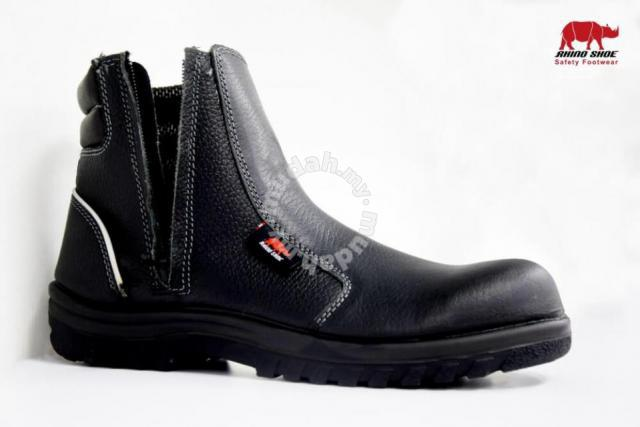 857e3a6101e Safety Shoes Rhino Mid Cut Zip Up Black UN203SP - Shoes for sale in USJ,  Selangor