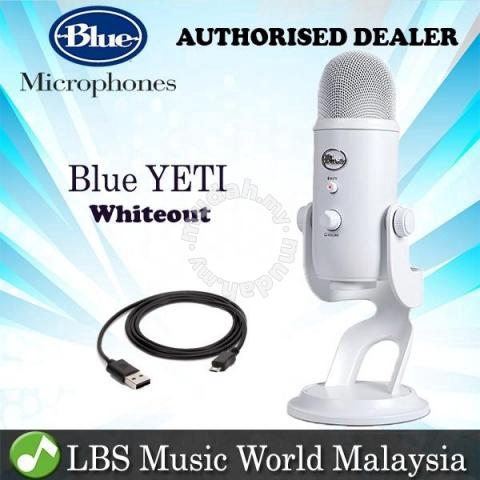 Blue Microphones Yeti White USB Microphone - Music Instruments for sale in  Bayan Lepas, Penang