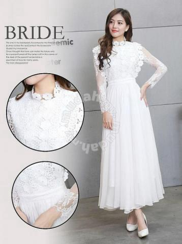 99343a915 White black long sleeve maxi dress prom wedding - Clothes for sale in ...