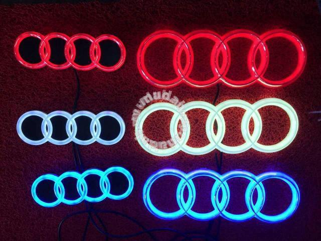 Audi Emblem Logo With Light Bar Led Light Car Accessories Parts - Audi emblem