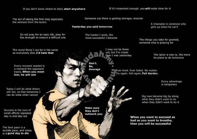 Poster Bruce Lee With Quotes Hobby Collectibles For In Cheras Kuala Lumpur