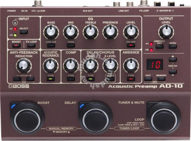 Boss ad10 Acoustic Guitar Processor (FREE Cable) - Music Instruments for  sale in Bangsar, Kuala Lumpur