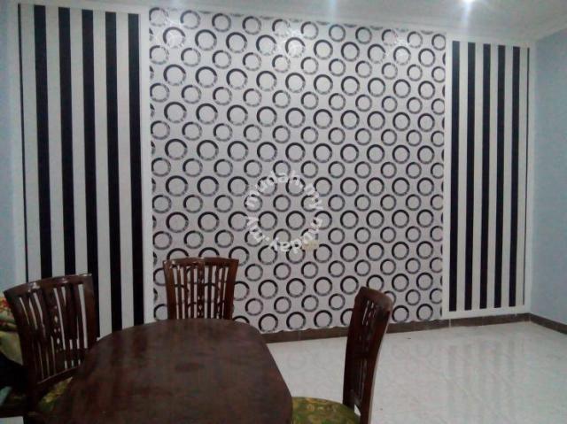 UPAH LABOUR PASANG WALLPAPER l kertas dinding - Furniture & Decoration for sale in Putrajaya, Putrajaya