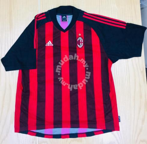info for 2c927 463eb Adidas AC Milan Football Home Jersey 2002/03 Used - Sports & Outdoors for  sale in Shah Alam, Selangor