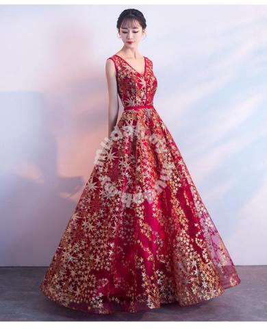 Red Gold Glitter Star Wedding Prom Dress Rbp0871 Clothes For Sale