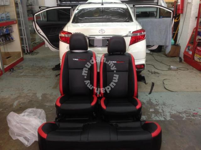 Toyota Vios Semi Leather Seat Cover Trd Car Accessories Parts