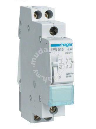 Hager epn515 latching / impulse relay   professional/business ...