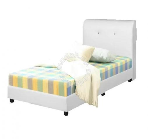 Cube White Queen Divan Bed Frame Only