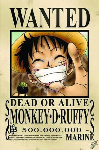 Luffy One Piece Bounty Poster Hobby Collectibles For Sale In Cheras Kuala Lumpur Mudah My