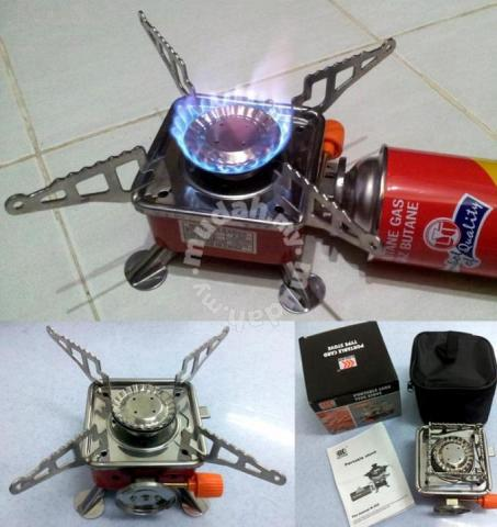Portable Card Type Gas Butane Camping Stove Cooker - Sports & Outdoors for  sale in Taiping, Perak - Mudah.my